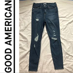 Good American Distressed Jeans 6/28